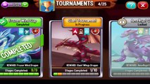 Tournaments Arena In Dragon City Giant Tournaments In Progress Stages Completed 1 To 10