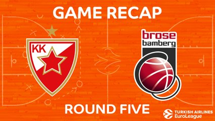 EuroLeague 2017-18 Highlights Regular Season Round 5 video: Zvezda 69-75 Bamberg