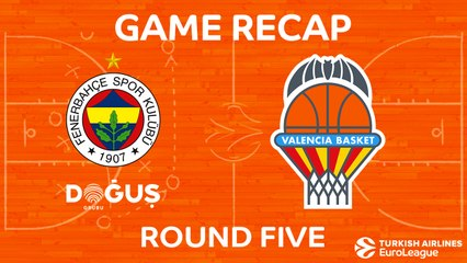 EuroLeague 2017-18 Highlights Regular Season Round 5 video: Fenerbahce 79-66 Valencia