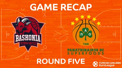 EuroLeague 2017-18 Highlights Regular Season Round 5 video: Baskonia 85-84 Panathinaikos