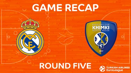 EuroLeague 2017-18 Highlights Regular Season Round 5 video: Madrid 80-86 Khimki