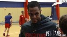Pelicans Practice: Rajon Rondo 11-02-17