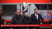 Kars Bakü-Tiflis-Kars Demiryolu Hattı Treni Kars'ta