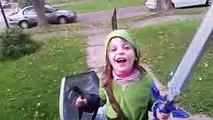 Jojo Slays Moblins in the Yard! Link Cosplay  Link Costume  Link Halloween  child legend of zelda (1)