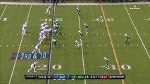 Buffalo Bills quarterback Tyrod Taylor fumbles on the run, New York Jets linebacker Demario Davis picks it up