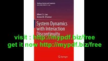 System Dynamics with Interaction Discontinuity (Nonlinear Systems and Complexity)