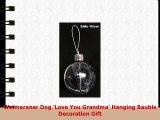 Weimaraner Hund Love You Grandma Weihnachtsbaum Flitterdekoration Geschenk