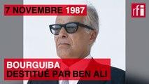 7 novembre 1987 : Bourguiba destitué par Ben Ali