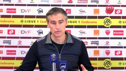 Avant OGCN-DFCO, Olivier Dall'Oglio en conférence de presse