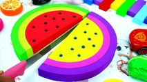 Learn Colors Fruit Watermelon Red Cars Mcqueen Bad Baby Mad Mattr Surprise Toys Opening For Kids