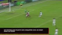 Football : Un joueur félicite son coéquipier avec un doigt dans les fesses (Vidéo)