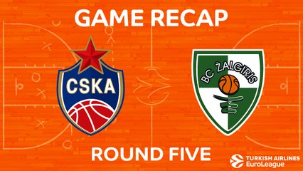 EuroLeague 2017-18 Highlights Regular Season Round 5 video: CSKA 94-91 Zalgiris