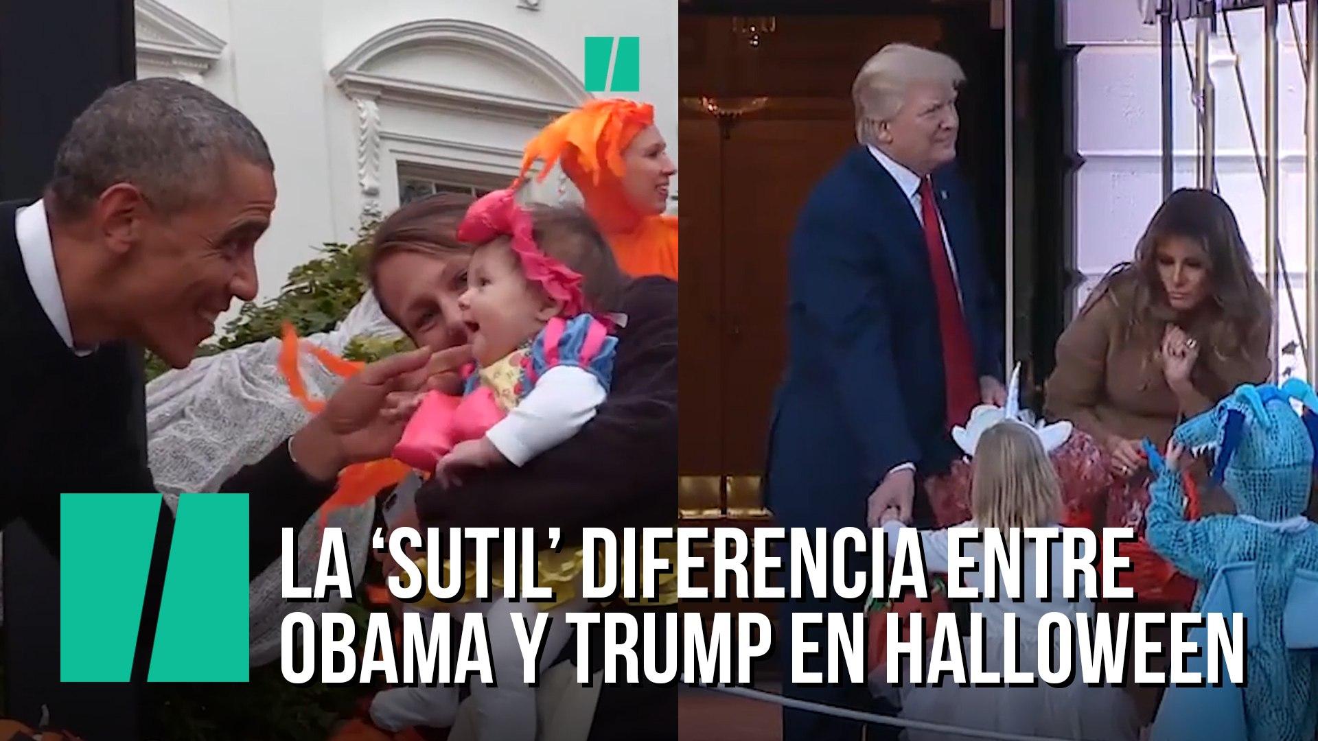 La 'sutil' diferencia entre Obama y Trump en Halloween