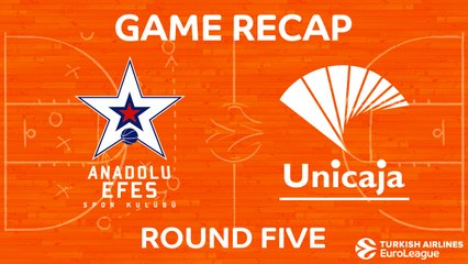 EuroLeague 2017-18 Highlights Regular Season Round 5 video: Efes 74-79 Unicaja