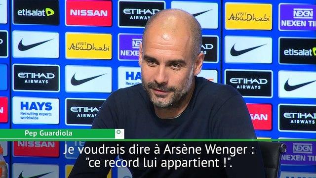 Foot - ANG - City : Guardiola «On ne battra pas le record d'invincibilité d'Arsenal»