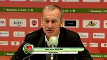 Réaction de Réginald Ray et Jean-Marc Furlan après Valenciennes FC - Stade Brestois 29