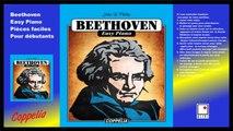 Partitions - Beethoven easy piano - Pour débutants