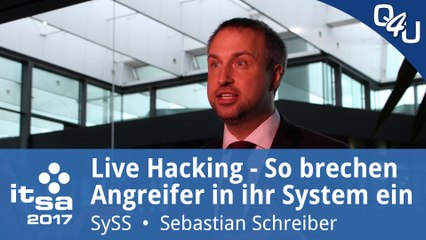 Live-Hacking mit Sebastian Schreiber - it-sa 2017 | QSO4YOU Tech
