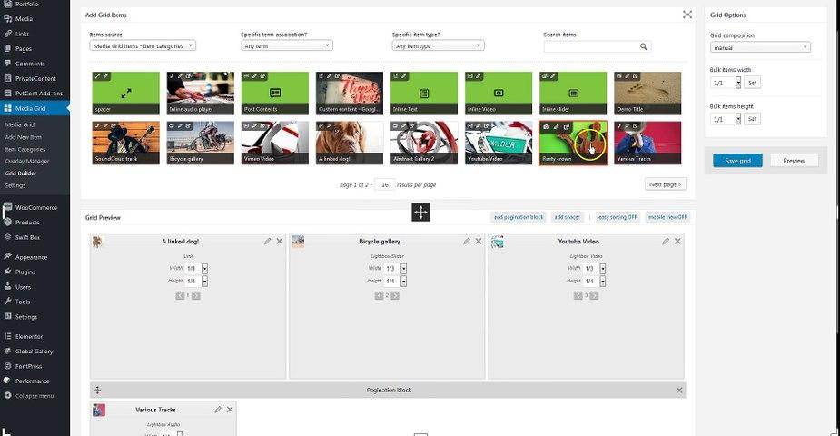 Media Grid (7a) - Grid Builder - Manual Grids