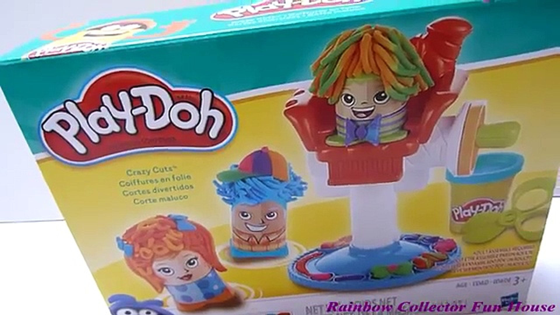 Play-Doh Crazy Cuts Hair Cut Salon Playset - Beautiful Play-Doh Hair Style   Rainbow Collector