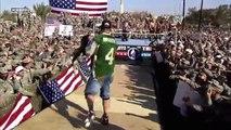 John Cena, Batista & Rey Mysterio vs. Randy Orton & Jeri-Show: Tribute to the Troops, Dec. 20, 2008