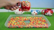 アンパンマン おもちゃ フェイスマグカップとバスボール Surprise Eggs Toys Anpanman