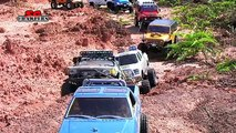 17 Scale RC Trucks Offroad Adventures AEV Jeep Brute TF2 hilux Defender 110 Hummer - Part 2