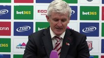 Mark Hughes on Peter Crouch getting an England recall