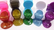 Glitter Colors Slime Clay Toys DIY Learn Colors Slime Baby Doll Bubble Surprise Toy