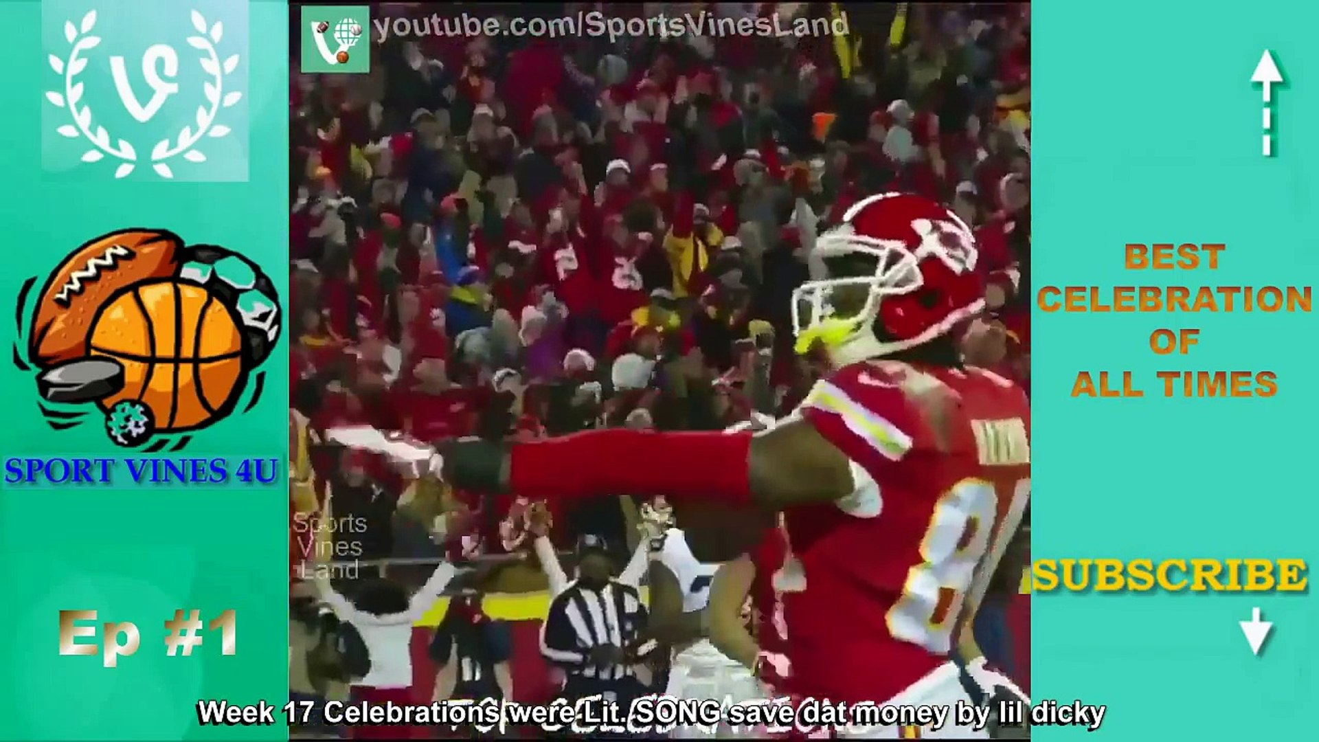 Best Football Touchdown Celebrations of All Times (w_ Title & Song's name) | Funny Sport |