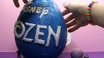 Frozen Giant surprise egg unboxing toys Zaini Frozen gigantes juguetes unboxing huevo sorpresa