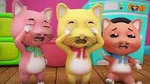 Trois petits chatons comptine pour enfants chatons riment en français Three Little Kittens Baby Song