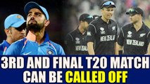 India vs NZ 3rd T20I : Thiruvananthapuram match under heavy rain threat | Oneindia News