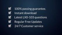 Latest LX0-103 PDF Questions Answers | Valid LX0-103 Dumps