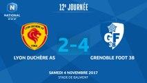 J12 : Lyon Duchère AS - Grenoble Foot 38, le résumé I FFF 2017