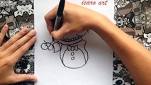 Como dibujar a phantom freddy de five nights at freddys | how to draw phantom freddy