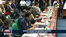 Senate committee resumes hearing on Castillo hazing death