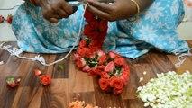 How to string flowers | String Jasmine | String Rose | String firecracker | String frangipani
