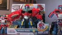 Optimus Primal - Transformers Rescue Bots Toy Optimus Prime Dinobot T-Rex new - Light And Sound