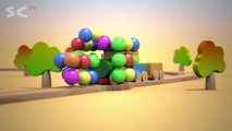 Train for babies and balloons, 3d animation cartoon show for kids, toddlers, children, 2015