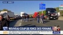 Sur l'A4, des forains coupent la circulation aux portes de Paris