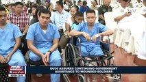 Du30 assures continuing government assistance to wounded soldiers