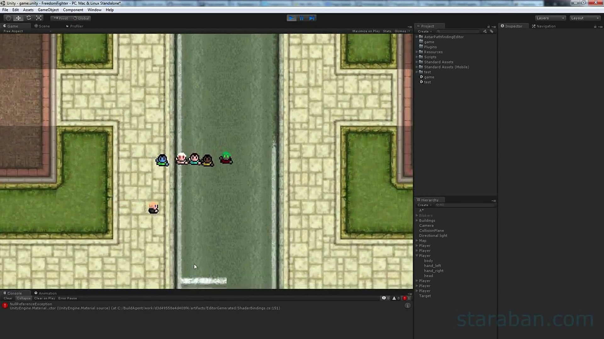 2D Game Tutorial  Part 1  Charer creating and tinting in Unity