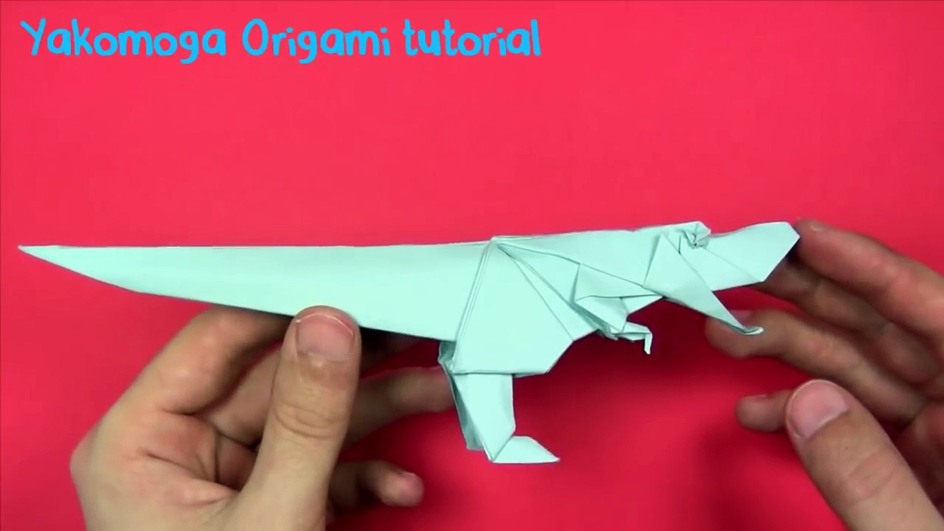 How to make a T. rex origami dinosaur | Natural History Museum | 1080x1920