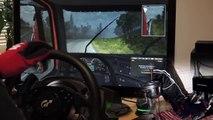 Euro Truck Simulator 2 - Stockholm Helsinki, Scania track drift T500RS Steering Wheel. Full HD new
