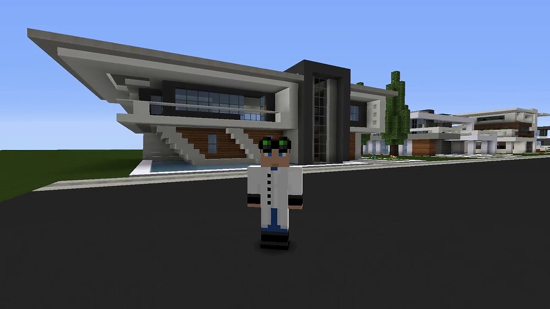 Minecraft: Easy Modern House / Mansion Tutorial #5 + DOWNLOAD - 1 8 [ How  to make ]