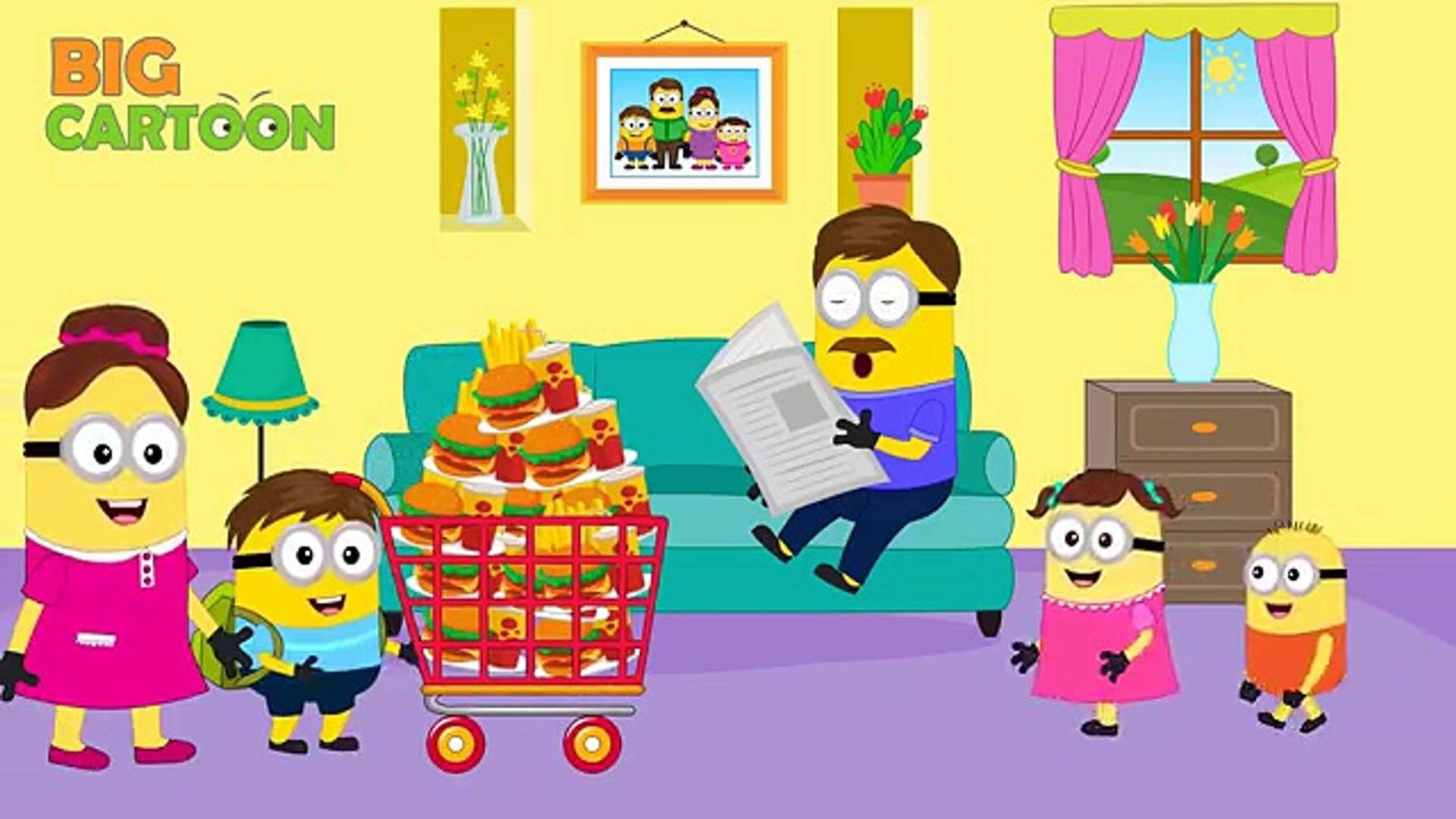 Minions Banana Selfish Threaten By Crocodile New Episodes Finger Family Song Nursery Rhymes Video Dailymotion