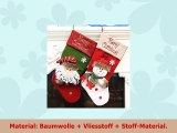 duoguan 2Weihnachten Geschenk Candy Socken 3D groß Weihnachten Candy Staubbeutel