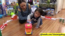 Kids Playtime: Thomas the Tank Engine, Little Tikes Touch N Go Racer and a Bump & Go Toy Train