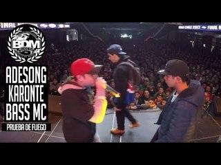 BDM Gold Chile 2017 / Prueba de Fuego / ADESONG vs BASS MC vs KARONTE